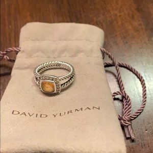 100% Authentic David Yurman Albion citrine ring